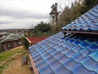 袖ケ浦市 雨漏り箇所上部の屋根