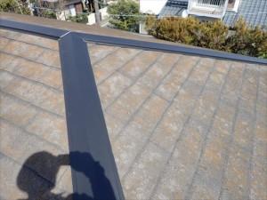市原市南国分寺台にて築25年が経過したスレート屋根の棟板金交換工事を実施、貫板には樹脂製貫板のタフモックを設置アフター