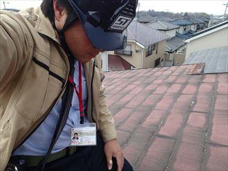 千葉市稲毛区 化粧スレート調査