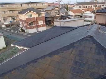 スレート屋根の調査実施