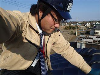 君津市の瓦の割れと棟瓦の釘浮き