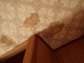 雨漏りによる天井の染み