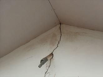 木更津市 外壁に出来た亀裂