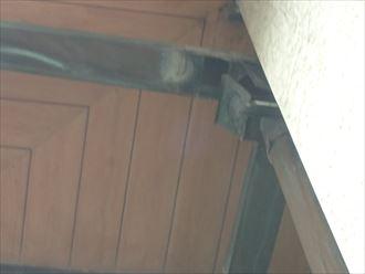 木更津市 雨樋から雨水の漏れ