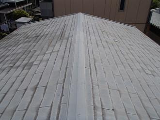 スレート屋根調査、経年劣化をされていました