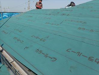 木更津市 新規防水紙設置