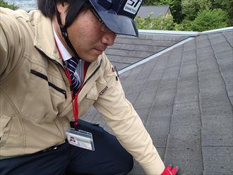 木更津市の化粧スレートメンテナンス屋根カバーと換気棟の設置