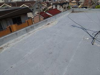 市原市の陸屋根アパート防水調査20年経過したシート防水