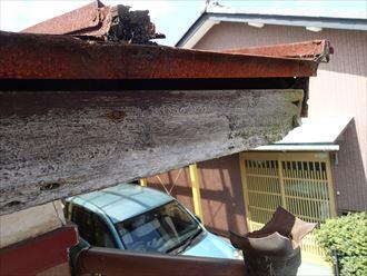富津市 破風板の劣化