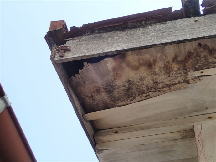 富津市 屋根下地の腐食