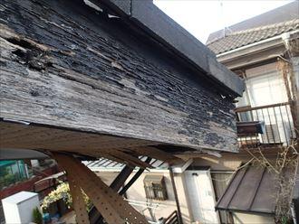 木更津市 破風板の腐食