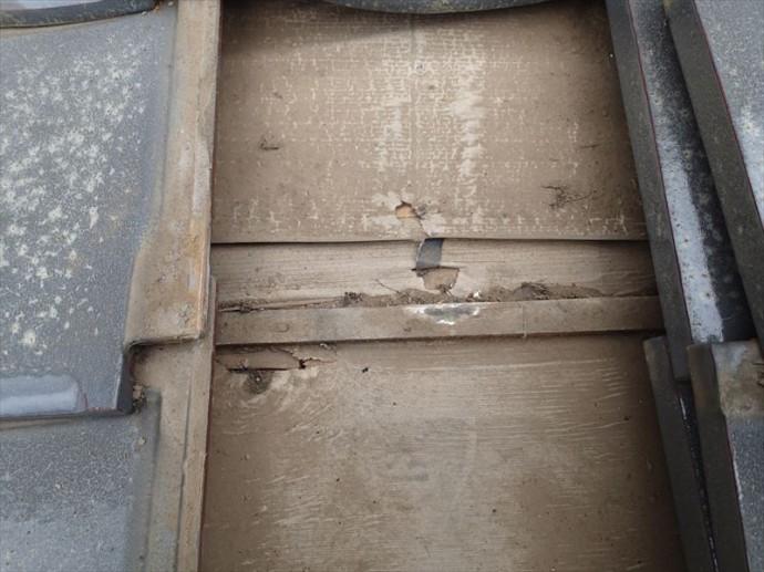 袖ケ浦市 防水紙の劣化