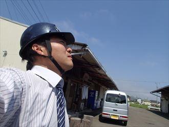 富津市の工場大波スレート屋根リフォーム