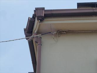 市原市 雨樋の破損