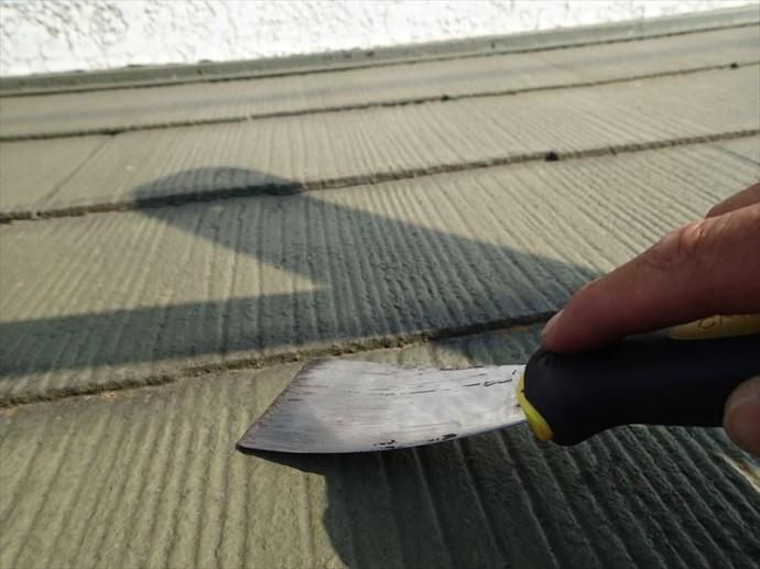 富津市 塗膜による化粧スレートに隙間なし