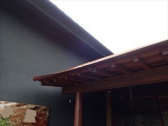 袖ケ浦市 銅製雨樋の変形
