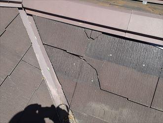 千葉市若葉区 割れた箇所の屋根