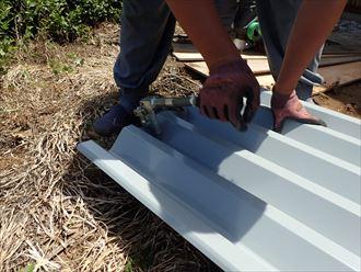 印旛郡 屋根材の加工