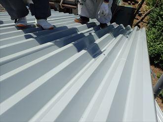 印旛郡 屋根材の設置