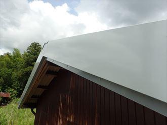 印旛郡 屋根袖板金の設置