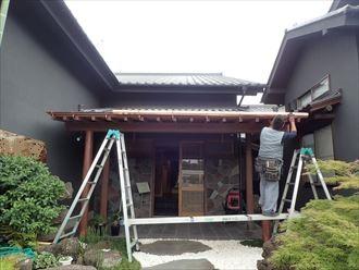 市原市 新規銅製雨樋設置