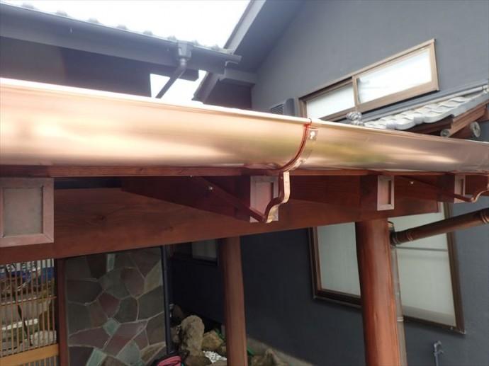 市原市 銅製雨樋交換工事竣工