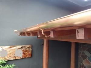 銅製雨樋交換工事後