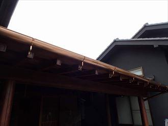袖ケ浦市の銅製雨樋交換工事