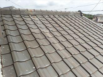 瓦屋根の確認