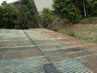 市原市 屋根材の劣化