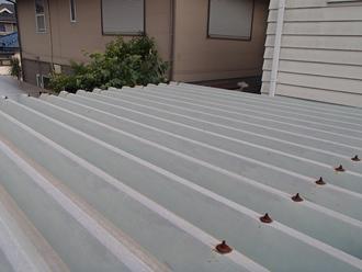 折半屋根の現状調査実施