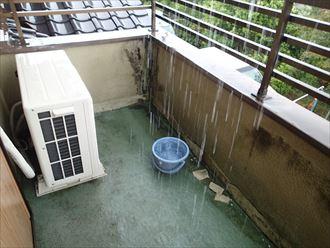 市原市 雨水の流れ落ち