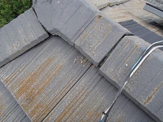 セメント瓦の棟瓦の調査実施