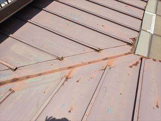 袖ケ浦市 雨漏り箇所上部・金属屋根