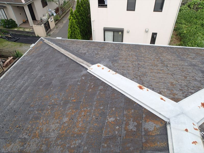 木更津市の屋根調査棟板金の飛散