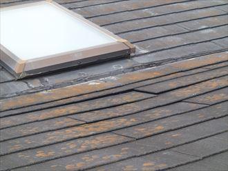 富津市 屋根の雨漏りによる損傷