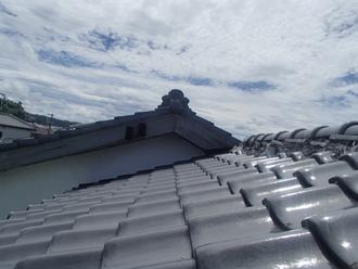 日本瓦屋根の調査雨漏りあり