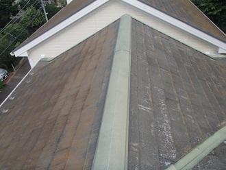 スレート屋根の現地調査