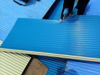 屋根材加工