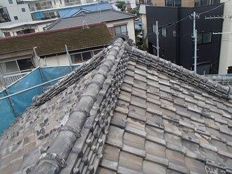 日本瓦の調査実施、築45年