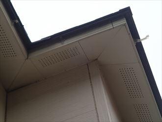 君津市 破損した二階の雨樋