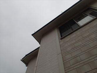 雨樋交換工事、グンバイCR105使用|君津市