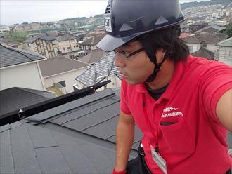 君津市 屋根からの雨樋調査