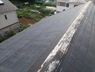 木更津市の屋根調査棟板金の釘浮きと軒天の腐食
