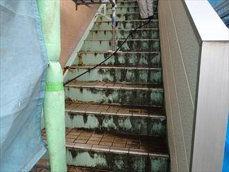 君津市 階段洗浄