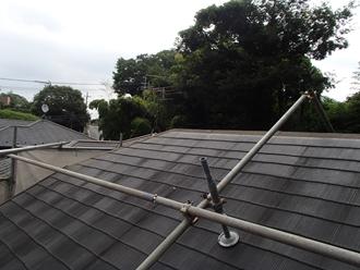 市原市姉崎にて自然災害に強い金属屋根、スーパーガルテクトを使用した屋根カバー工事ビフォー