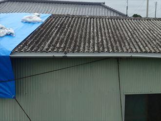 袖ケ浦市|小波スレート屋根葺き替え工事で倉庫復旧!