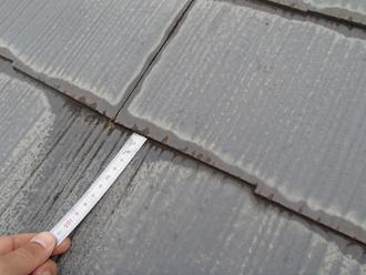 スレート屋根の縁切り不足