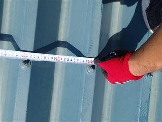 木更津市 折板屋根の形状調査