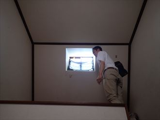君津市のアパート鳩小屋の雨漏り